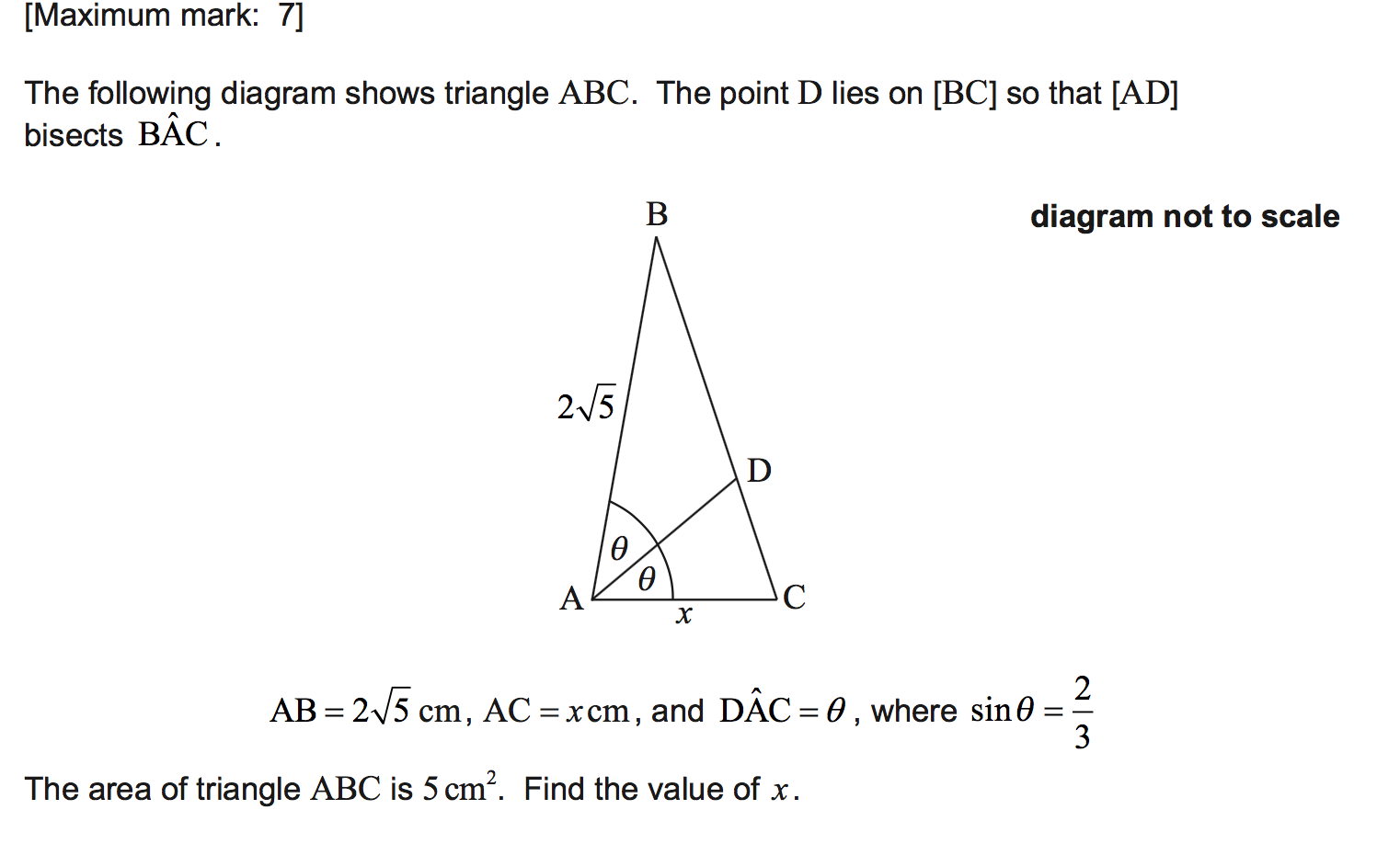 Trig question help? Paper 1 - Maths SL - IB Survival